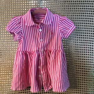 Ralph Lauren Pink and White stripped dress.